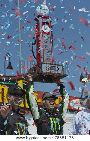 Newton, IA - May 18, 2014:  Sam Hornish, Jr. wins the Get To Know Newton 250 at Iowa Speedway in Newton, IA.