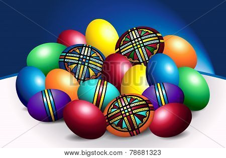 Beautiful Romanian Colored Easter Eggs