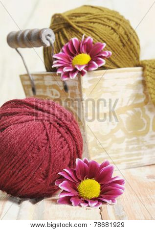 Wool Colorful Clews For Knitting