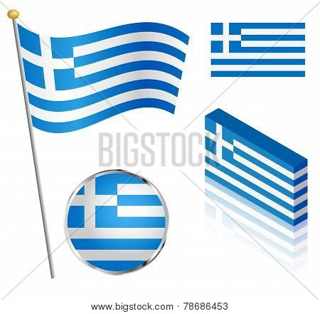Greek Flag Set