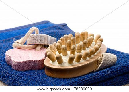 Towels, Brush And Pumice Stones