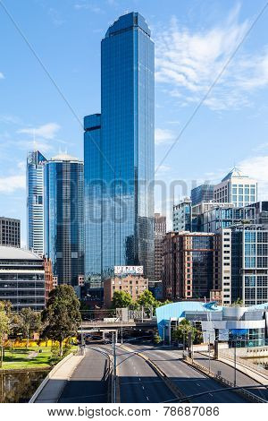 Melbourne Skyline  with Rialto Towers showing