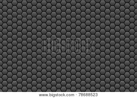 Honeycomb structure balck gray