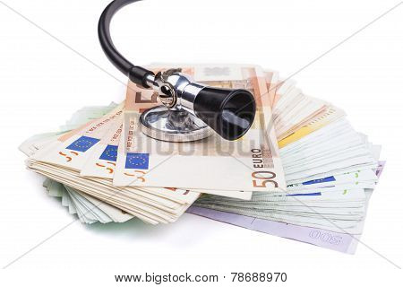 Stethoscope And Euro