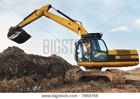 Loader Excavator In A Quarry