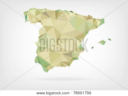 Low Poly map of Spain