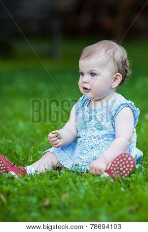 Beautiful Gazing Cute Baby Girl
