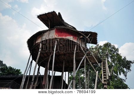 Traditional house on West Kalimantan, Indonesia