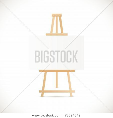Wooden Easel Illustration