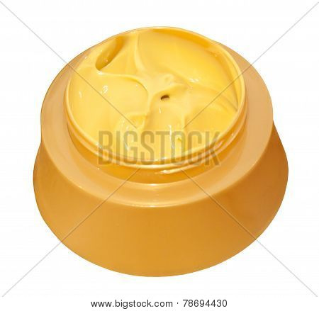 Face Cream Isolated On White Background