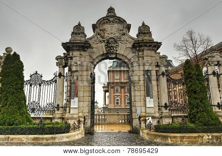 Gateway To Buda Castle, Budapest, Hungary