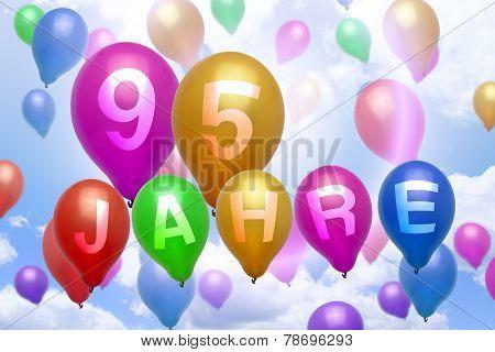 German 95 Years Balloon Colorful Balloons