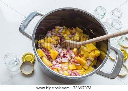 Onion Pineapple Chutney Ingredients And Preparation