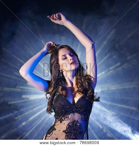Woman dancing in club