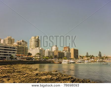 Punta Del Este Port View Buildings And Boats