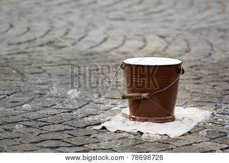 Water pail on the street