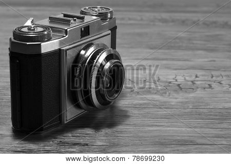 Old camera black and white