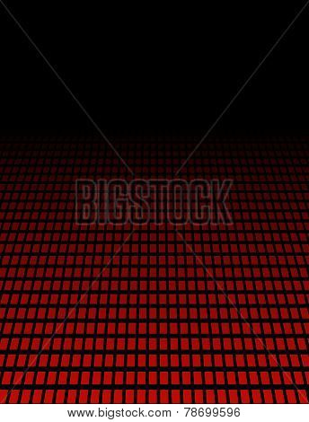 Perspective background with red dots
