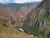 picture of andes  - andes scenery around Machu Picchu a ancient Inka city in the Andes located in Peru  - JPG