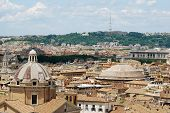 image of emanuele  - Rome aerial view from Vittorio Emanuele monument - JPG