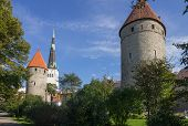 picture of olaf  - View on towers of old Tallinn castle ESTONIA - JPG