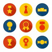 pic of rosettes  - Set of vector icons of different awards - JPG