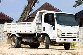 picture of dumper  - dumper truck on construction site - JPG