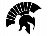picture of olympiad  - helmet vector logo caesar and spartan style - JPG