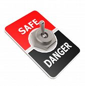 picture of toggle switch  - Safe toggle switch image with hi - JPG