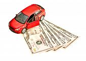 picture of plastic money  - Car and money - JPG