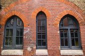 image of premises  - beautiful old arched  windows and red brick - JPG
