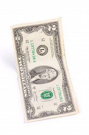 stock photo of two dollar bill  - United States two dollar bill - JPG