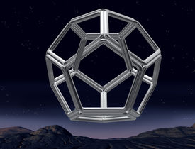 pic of dodecahedron  - Original illustration of an impossible dodecahedron in the night sky - JPG
