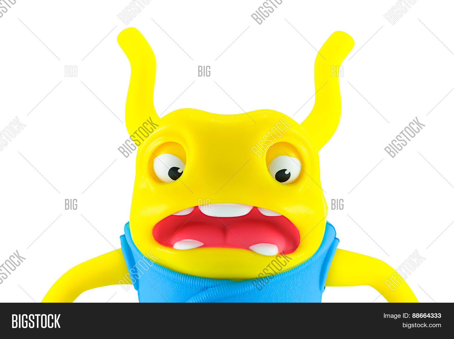 Serprised Oh Alien Yellow Color Toy Image Amp Photo