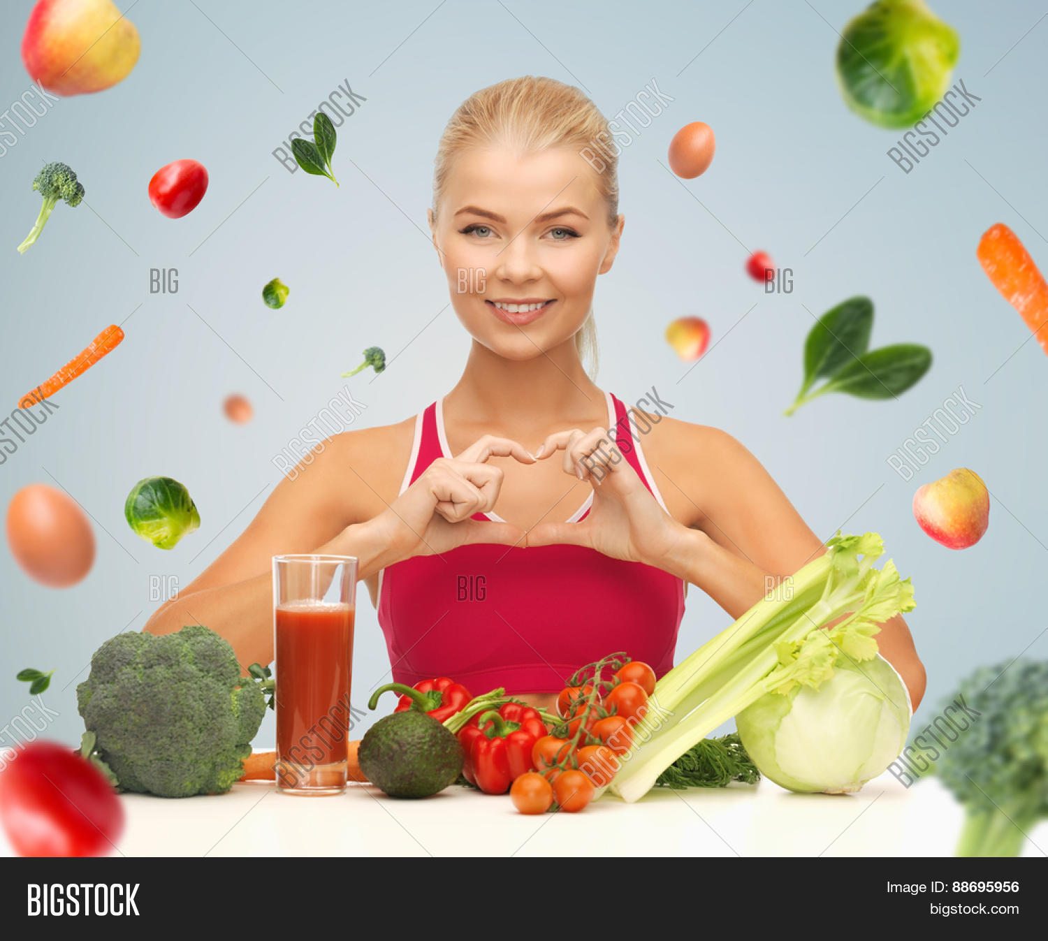 Organic Food Products Healthy: People, Healthy Eating, Vegetarian Image & Photo