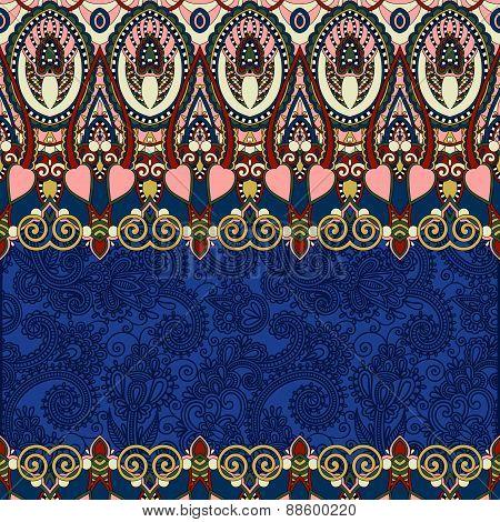 ultramarine ornamental floral folkloric background for invitatio