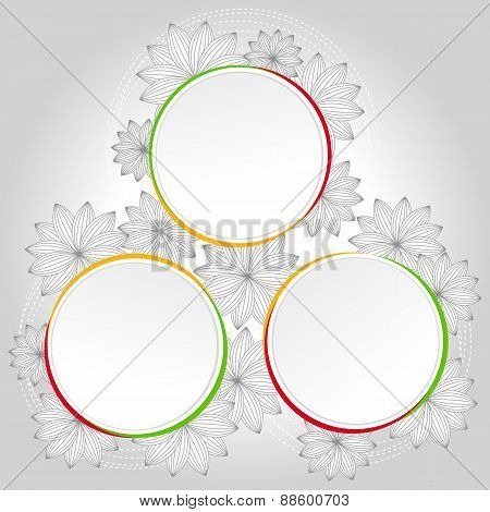 Infographic Floral Circle