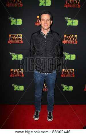 LOS ANGELES - FEB 18:  Simon Kinberg at the Global Premiere of