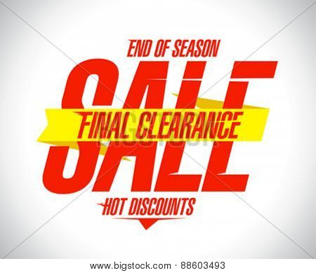 Final clearance, hot discounts design template.