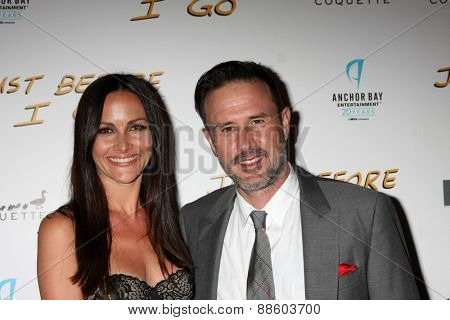 LOS ANGELES - FEB 20:  Christina McLarty, David Arquette at the