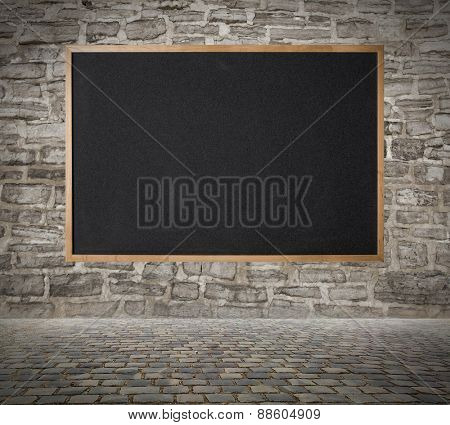 Blackboard on the wall background abstract background design.