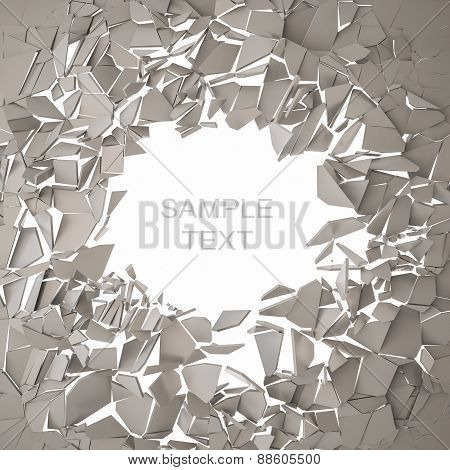 Cracked earth abstract background