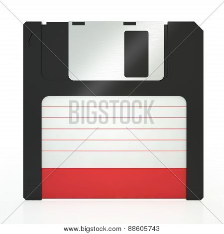 Illustration of old floppy