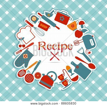 Recipe vector illustration.