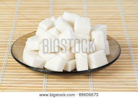 Sugar Cubes On A Plate