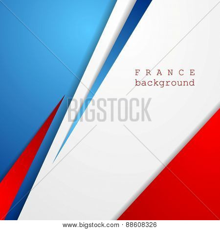 Modern bright abstract background. French colors. Vector design