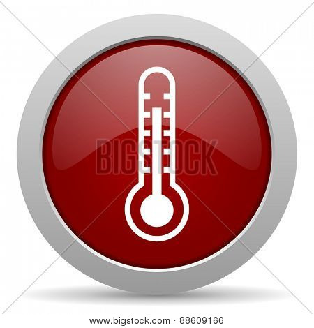 thermometer red glossy web icon