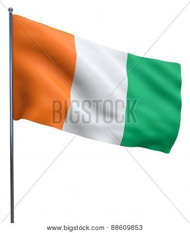 Cote D'ivoire Ivory Coast Flag Image