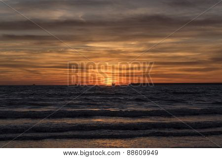 Beautiful Sunset On The Beach