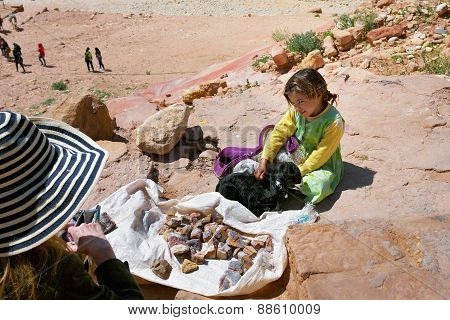 Young Seller In Petra, Jordan